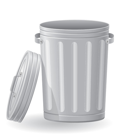 trash can: trash can vector illustration isolated on white background