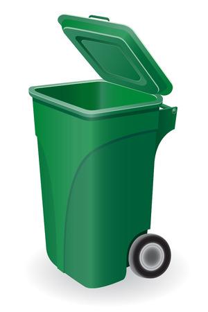 vuilnisbak vectorillustratie geïsoleerd op witte achtergrond Stockfoto