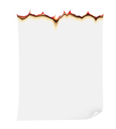 burning paper: burning paper illustration isolated on white  Stock Photo