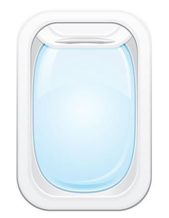 looking through an object: plane porthole vector illustration isolated on white background Stock Photo