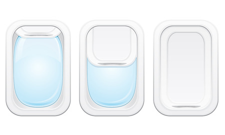 view from the plane: plane porthole vector illustration isolated on white background Stock Photo