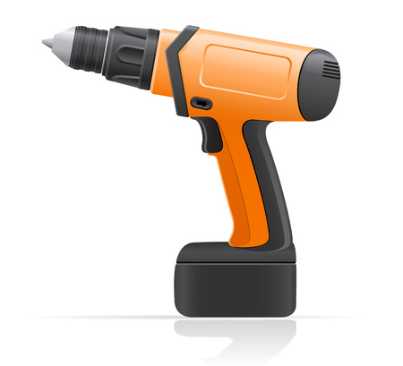 gimlet: electric screwdriver vector illustration isolated on white background
