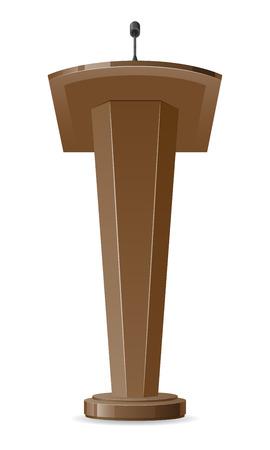 tribune vector illustration isolated on white background illustration