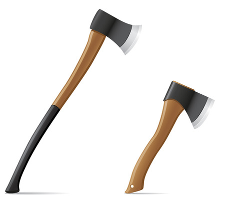 tool axe with wooden handle vector illustration isolated on white background illustration