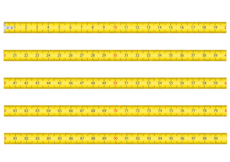 meetlint voor hulpmiddel roulette vector illustratie geïsoleerd op wit