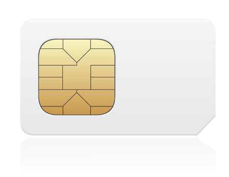 sim: sim card vector illustration isolated on white