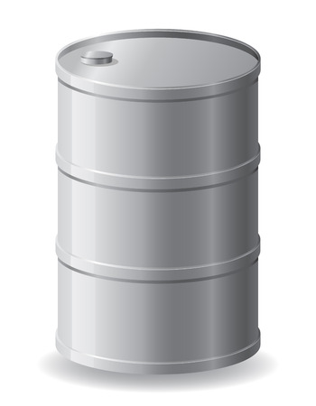 metallic barrel illustration isolated on white illustration