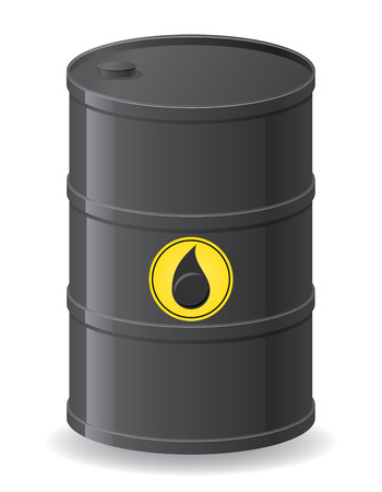 black barrel for oil illustration isolated on white illustration