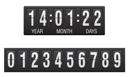 scoreboard countdown timer vector illustration isolated on white background illustration