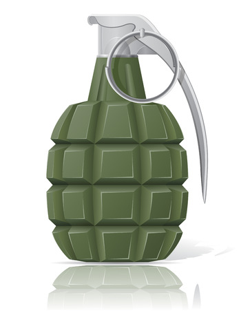hand grenade vector illustration isolated on white background illustration