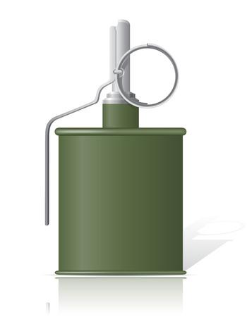 bombing: hand grenade vector illustration isolated on white background