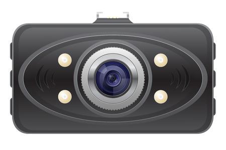car recorder front view illustration isolated on white  illustration