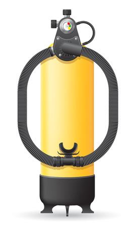 aqualung: autorespiratore isolato su sfondo bianco
