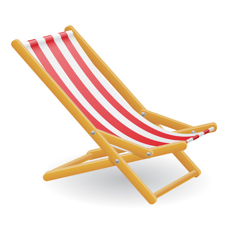 strandstoel: beach chair illustration isolated on white background