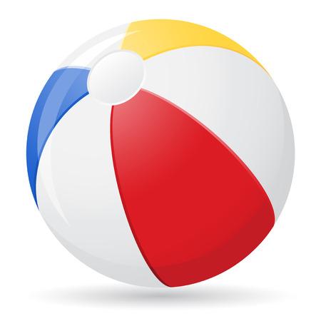 summer heat: beach ball illustration isolated on white background Stock Photo