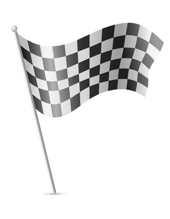 racecar: checkered flag for car racing vector illustration isolated on white background