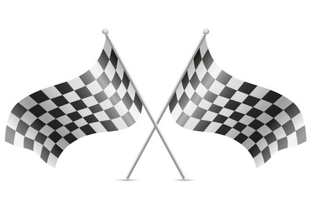 checkered flags for car racing vector illustration isolated on white background illustration