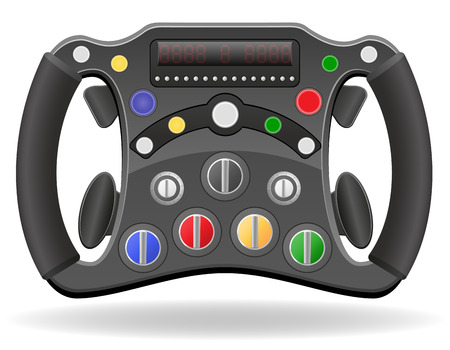 steering wheel of racing car  illustration  isolated on white background illustration