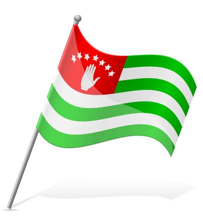 abkhazia: flag of Abkhazia vector illustration isolated on white background Stock Photo