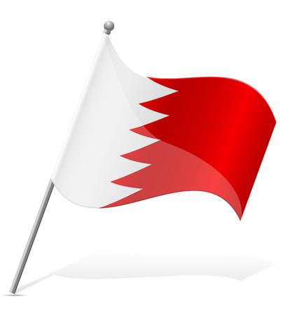 flag of Bahrain vector illustration isolated on white background illustration