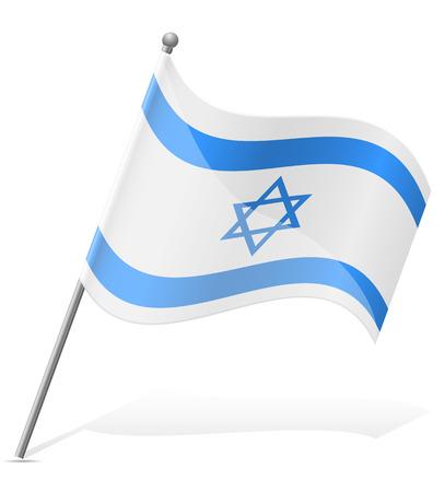 israel people: flag of Israel vector illustration isolated on white background