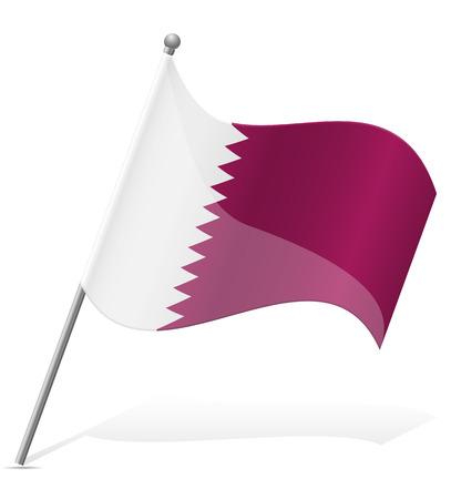 flag of Qatar vector illustration isolated on white background