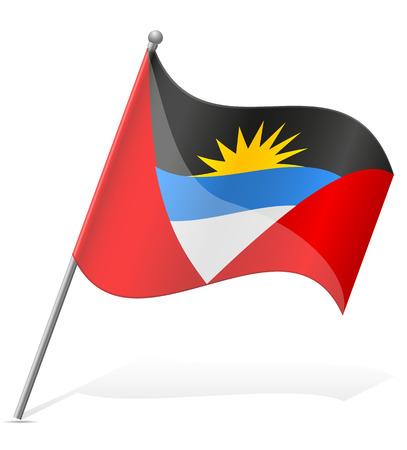 barbuda: flag of Antigua and Barbuda illustration isolated on white background Stock Photo