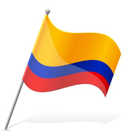 republic of ecuador: flag of Ecuador  illustration isolated on white background