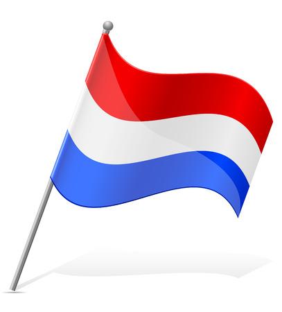 flag of Paraguay illustration isolated on white background illustration