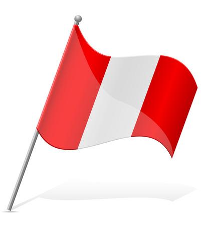 flag of Peru illustration isolated on white background illustration