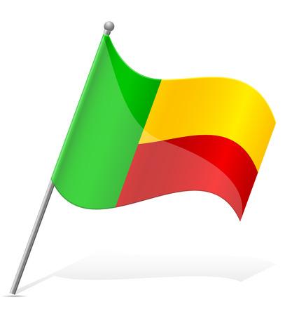 flag of Benin vector illustration isolated on white background illustration