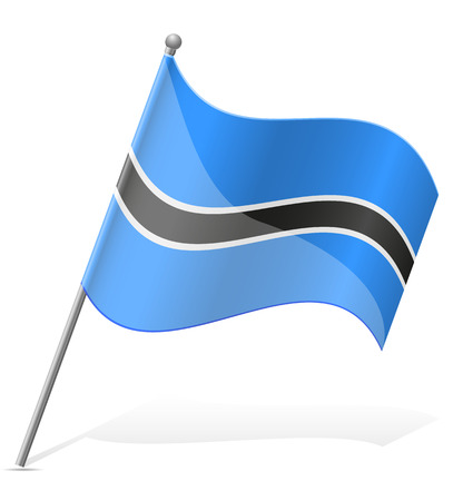 flag of Botswana vector illustration isolated on white background illustration