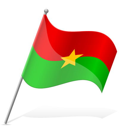 flag of Burkina Faso vector illustration isolated on white background illustration