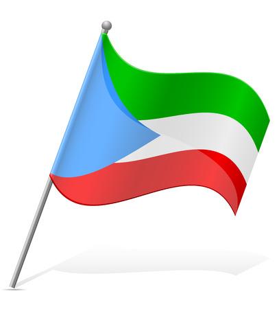 flag of Equatorial Guinea vector illustration isolated on white background illustration
