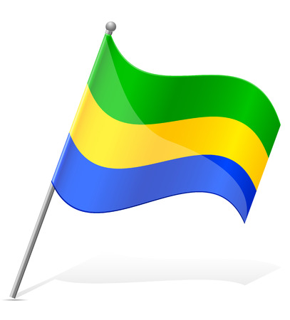 flag of Gabon vector illustration isolated on white background illustration