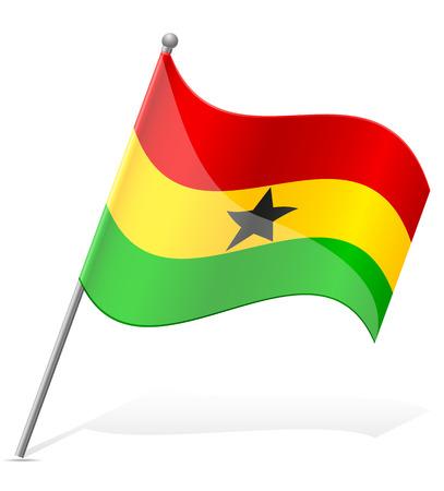 flag of Ghana vector illustration isolated on white background illustration