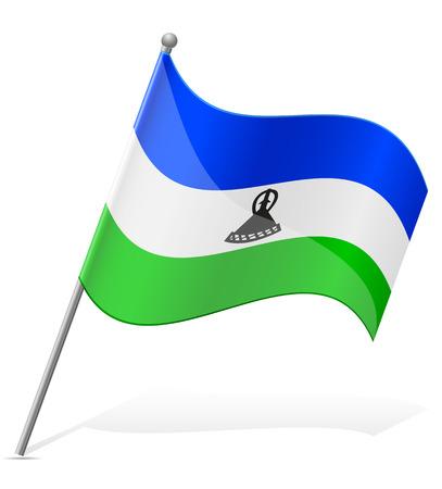flag of Lesotho vector illustration isolated on white background illustration
