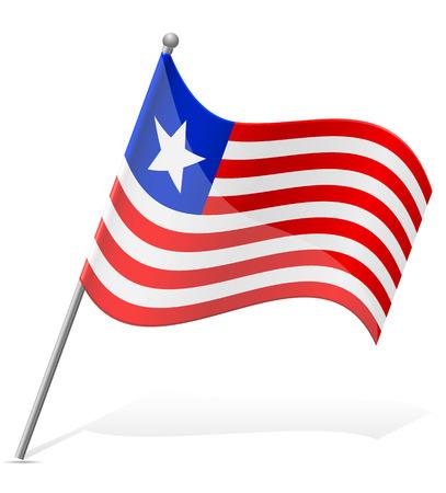 liberia: flag of Liberia vector illustration isolated on white background