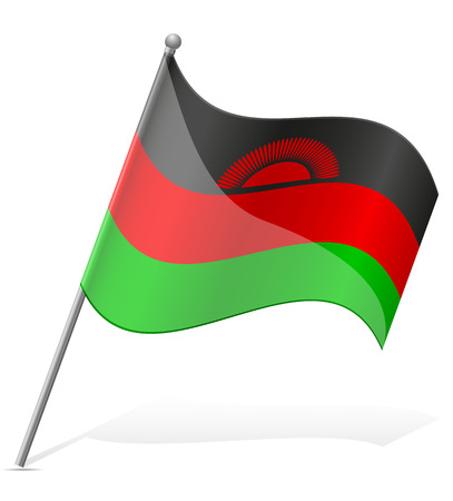 flag of Malawi vector illustration isolated on white background illustration