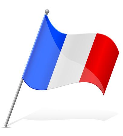 mayotte: flag of Mayotte vector illustration isolated on white background