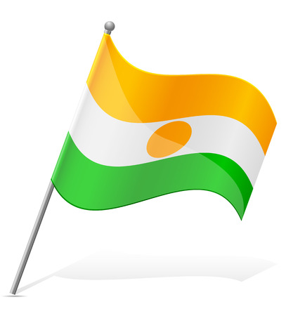 niger: flag of Niger vector illustration isolated on white background