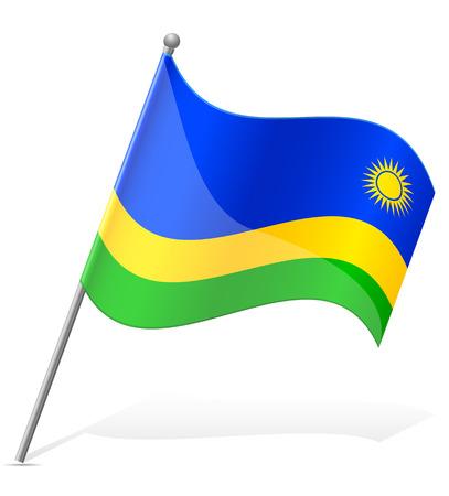 flag of Rwanda vector illustration isolated on white background illustration