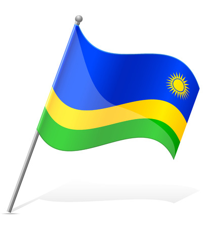 flag of Rwanda vector illustration isolated on white background illustration