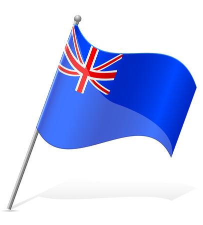 helena: flag of Saint Helena Islands vector illustration isolated on white background Stock Photo