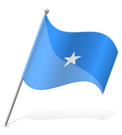 somali: flag of Somali vector illustration isolated on white background
