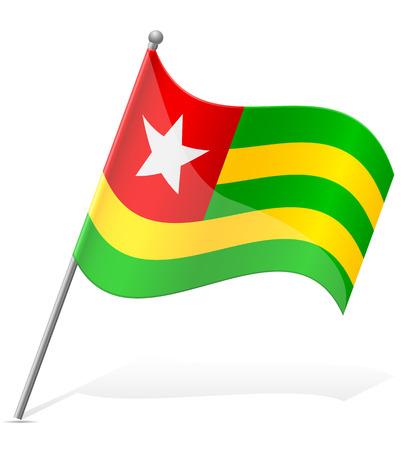 togo: flag of Togo vector illustration isolated on white background