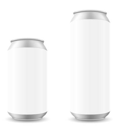 blanck: can of beer template blanck vector illustration isolated on white background Stock Photo