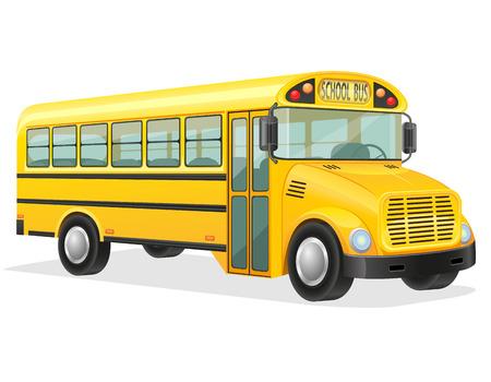 school transportation: autob�s escolar ilustraci�n vectorial aislados en fondo blanco