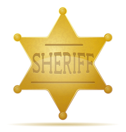 sheriff: star sheriff vector illustration isolated on white background
