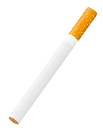 pernicious habit: cigarette illustration isolated on white background Stock Photo